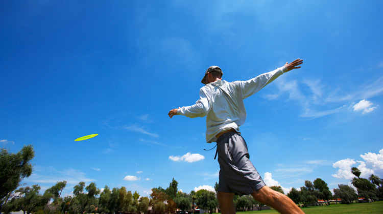 Frisbee Golf at the Warrior Zone