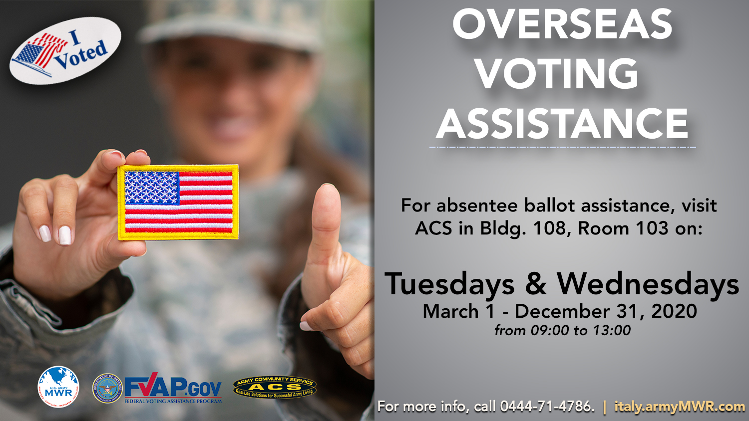 CANCELLED: Voting Assistance Program