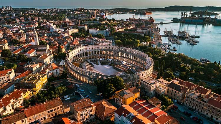Roman Colosseum in Pula, Croatia