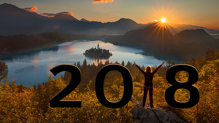 Lake Bled, Slovenia for New Year's